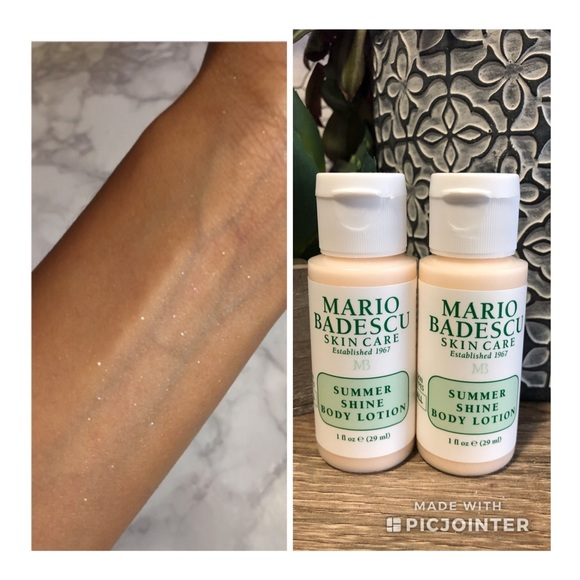 4 For 30 2 Mario Badescu Shimmer Lotion Bottles Nwt
